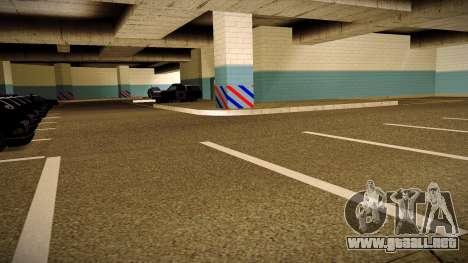 Nuevo garaje LSPD para GTA San Andreas segunda pantalla