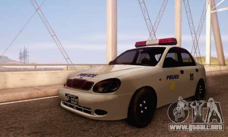 Daewoo Lanos Police para GTA San Andreas left