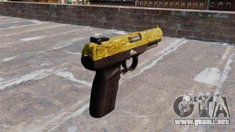 Pistola FN Five seveN de Oro para GTA 4 segundos de pantalla