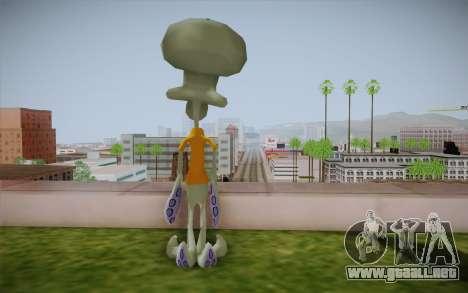 Squidward Tentacles para GTA San Andreas segunda pantalla