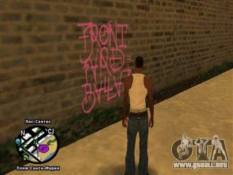 Tags Map Mod v1.0 para GTA San Andreas segunda pantalla