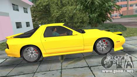 Mazda Savanna RX-7 III (FC3S) para GTA Vice City vista lateral izquierdo