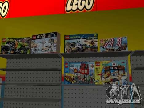 La tienda de LEGO para GTA San Andreas octavo de pantalla