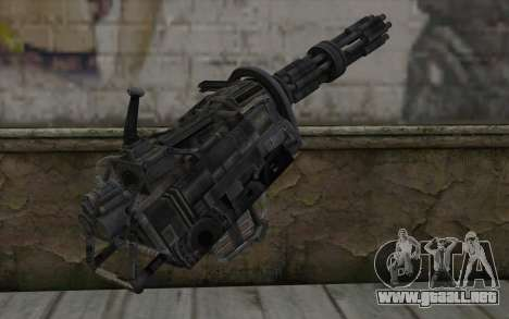 Minigun из Fallout para GTA San Andreas segunda pantalla
