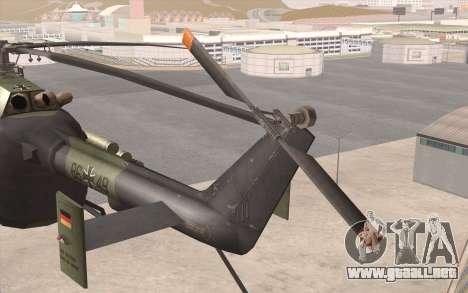Bo-105 para la visión correcta GTA San Andreas