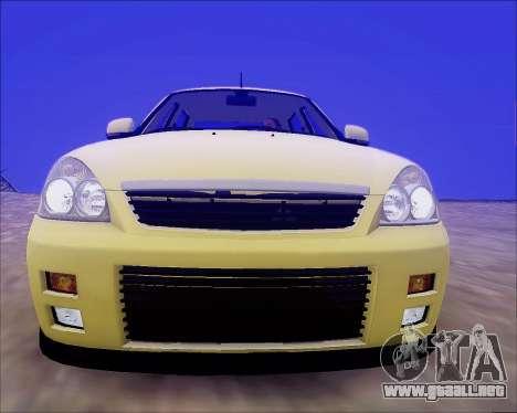 Lada 2170 Priora Tuneable para las ruedas de GTA San Andreas