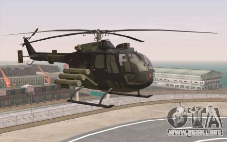 Bo-105 para GTA San Andreas left