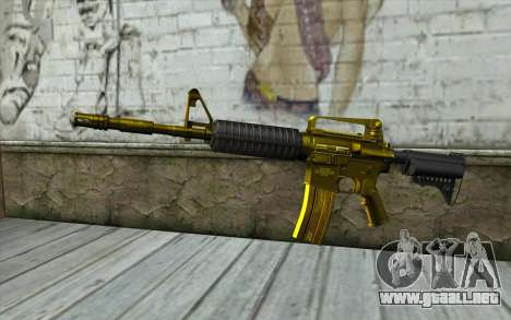 Golden M4 sin vista para GTA San Andreas