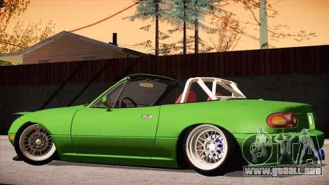 Mazda Miata Hellaflush para visión interna GTA San Andreas