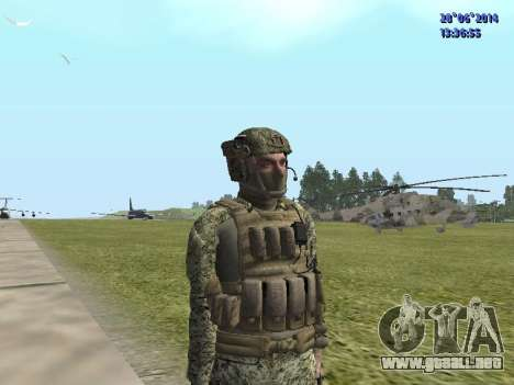Alfa Antiterrorismo para GTA San Andreas sucesivamente de pantalla