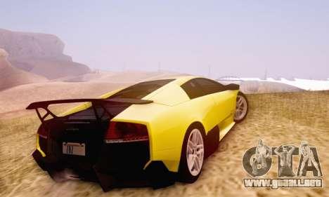 Lamborghini Murcielago LP670-4 SV para visión interna GTA San Andreas