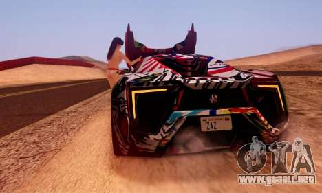 W-Motors Lykan Hypersport 2013 Stiker Editions para GTA San Andreas left