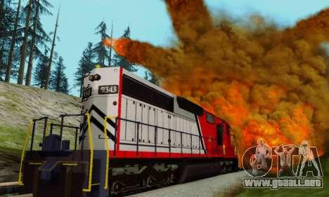GTA V Trem para GTA San Andreas vista hacia atrás