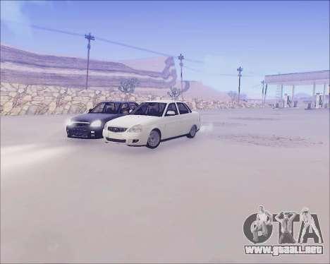 Lada 2170 Priora Tuneable para visión interna GTA San Andreas