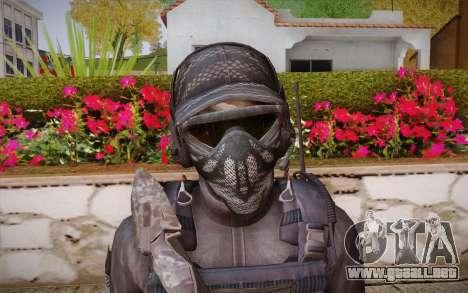 Kick из de Call of Duty: Ghosts para GTA San Andreas tercera pantalla