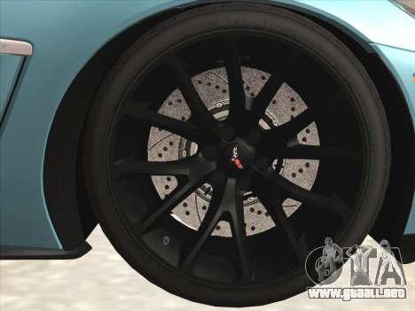 Chevrolet Corvette Grand Sport para visión interna GTA San Andreas