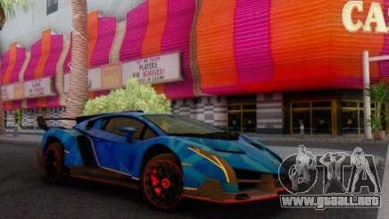 Lamborghini LP750-4 2013 Veneno Blue Star para GTA San Andreas