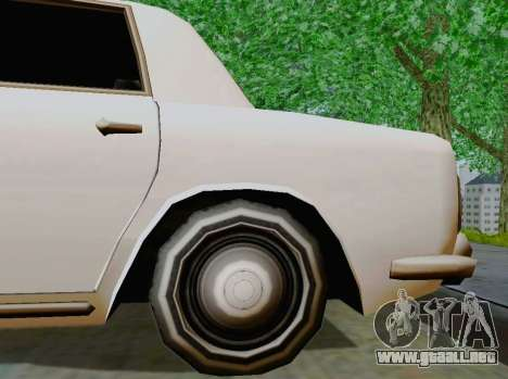 Stafford Limousine para GTA San Andreas vista hacia atrás