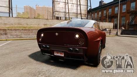 Spyker D8 para GTA 4 Vista posterior izquierda