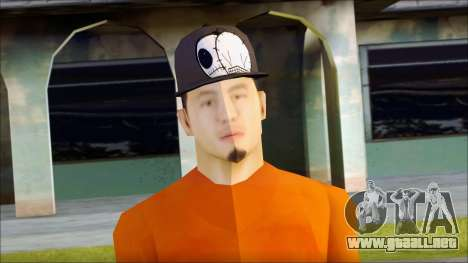 Polera Naranja con Gorro para GTA San Andreas tercera pantalla