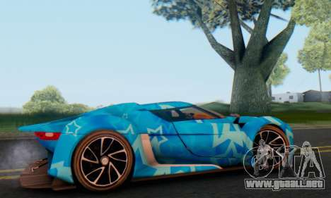 Citroen GT Blue Star para GTA San Andreas vista posterior izquierda