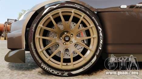 Honda S2000 para GTA 4 vista hacia atrás