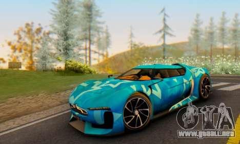 Citroen GT Blue Star para GTA San Andreas vista hacia atrás