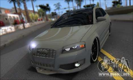 Audi S3 2006 Custom para visión interna GTA San Andreas