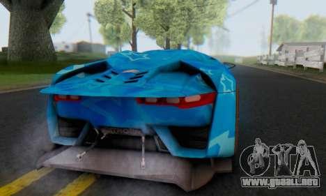 Citroen GT Blue Star para la visión correcta GTA San Andreas