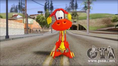 Tweek the Dragon from Fur Fighters Playable para GTA San Andreas segunda pantalla