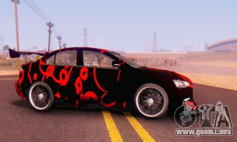 Mitsubishi Lancer EVO X Abstraction para GTA San Andreas left
