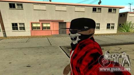 Selfie Mod para GTA San Andreas sucesivamente de pantalla