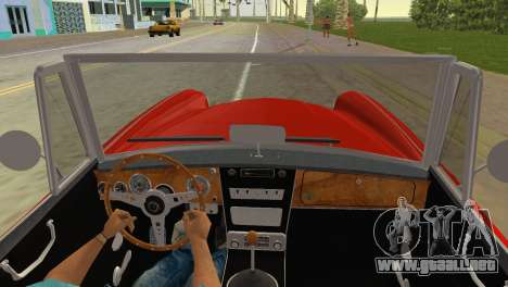 Austin-Healey 3000 Mk III para GTA Vice City vista lateral izquierdo
