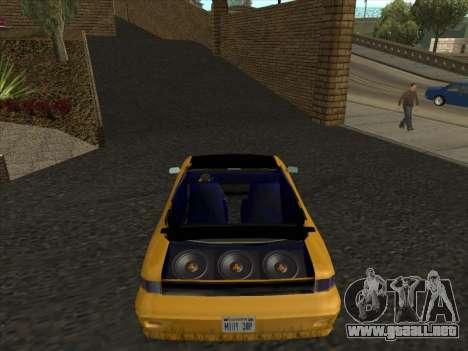 Alpha HD Cabrio para GTA San Andreas vista posterior izquierda