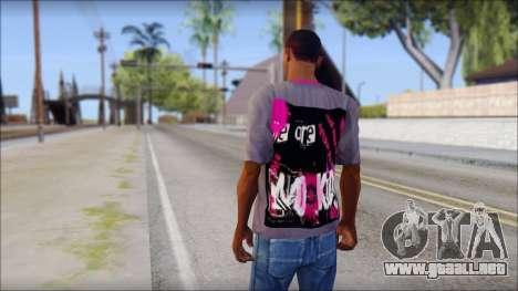 Emo T-Shirt para GTA San Andreas segunda pantalla