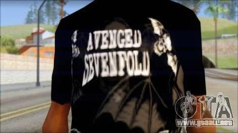 A7X Deathbats Fan T-Shirt Black para GTA San Andreas tercera pantalla