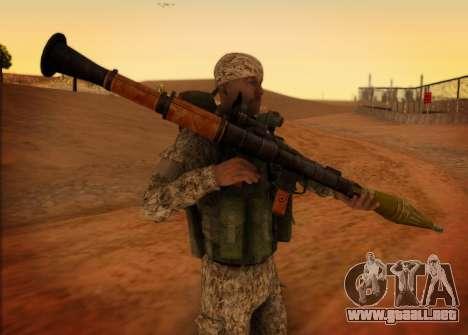 El RAA. Granadero CRRF para GTA San Andreas segunda pantalla