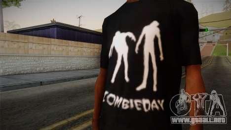 Zombie Polo Shirt para GTA San Andreas tercera pantalla
