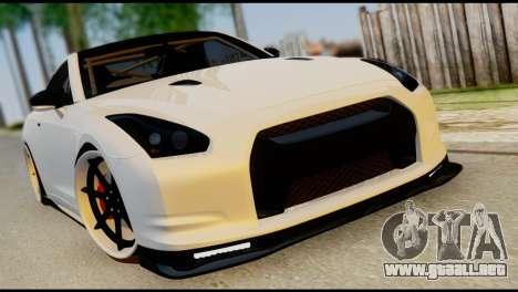 Nissan GT-R V2.0 para vista inferior GTA San Andreas