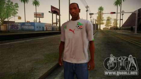 Algerian Football T-Shirt para GTA San Andreas