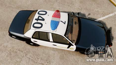Ford Crown Victoria Sheriff [ELS] Marked para GTA 4 visión correcta