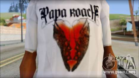 Papa Roach The Best Of To Be Loved Fan T-Shirt para GTA San Andreas tercera pantalla
