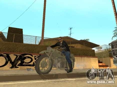 Ural M72 para GTA San Andreas vista hacia atrás