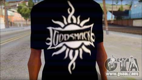 Godsmack T-Shirt para GTA San Andreas segunda pantalla