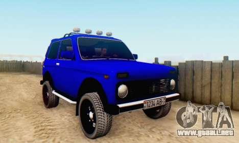 VAZ 21213 para visión interna GTA San Andreas