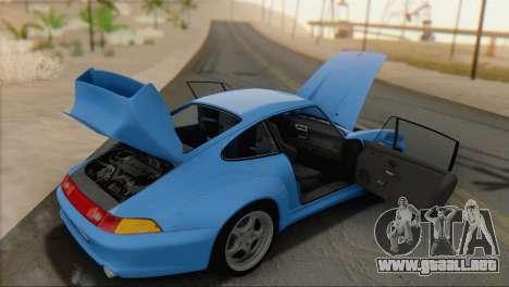Porsche 911 GT2 (993) 1995 V1.0 SA Plate para GTA San Andreas vista hacia atrás