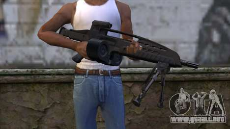 XM8 LMG Black para GTA San Andreas tercera pantalla