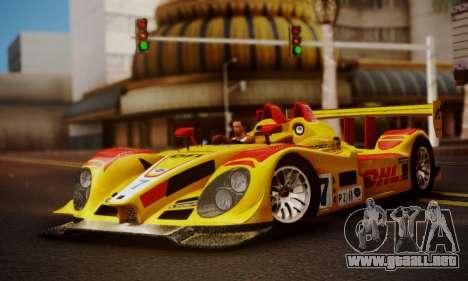 Porsche RS Spyder Evo 2008 para GTA San Andreas vista hacia atrás