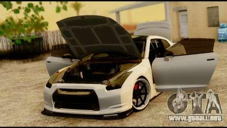 Nissan GT-R V2.0 para GTA San Andreas vista hacia atrás