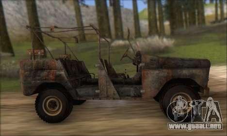 Quemado UAZ 469 para visión interna GTA San Andreas